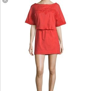 VIX by Paula Hermanny Coral Cotton Dress Small
